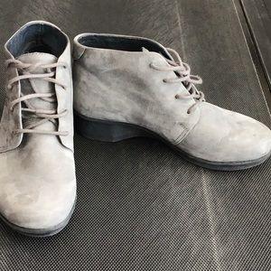 Dansko grey suede lace booties
